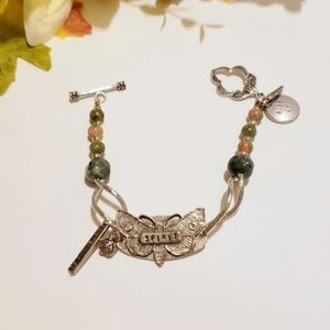 Handcrafted Boutique Jewelry - Gemstone Spirit Guide Charm Bracelet
